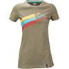 La Sportiva W's Stripe Logo T-Shirt Taupe